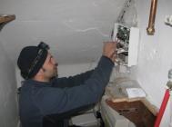 Wireless Alarm Installation Puting Up The Control Panel